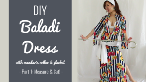 DIY Baladi Dress with mandarin collar and placket